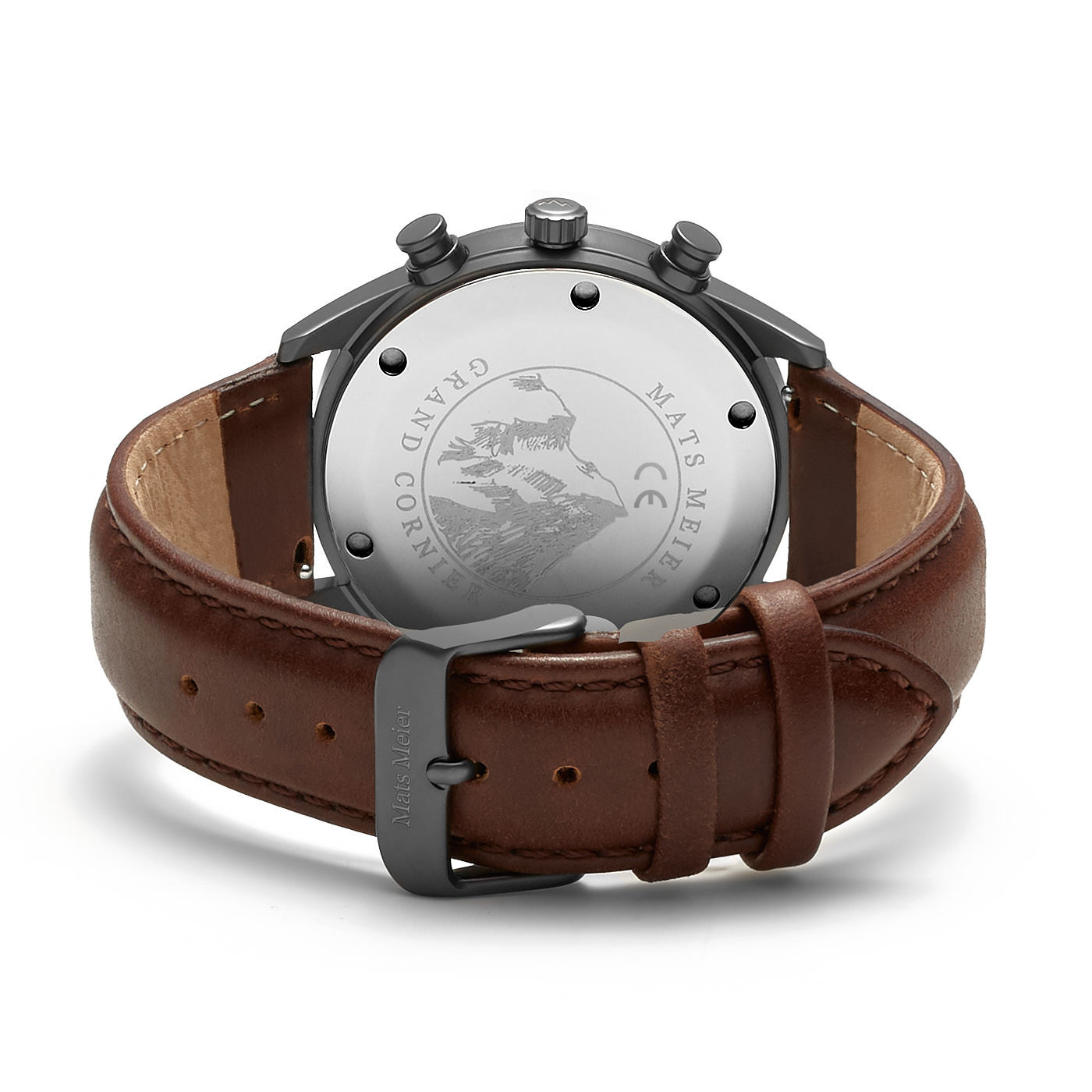 Mats Meier Grand Cornier chronograaf herenhorloge bruin en gunmetal