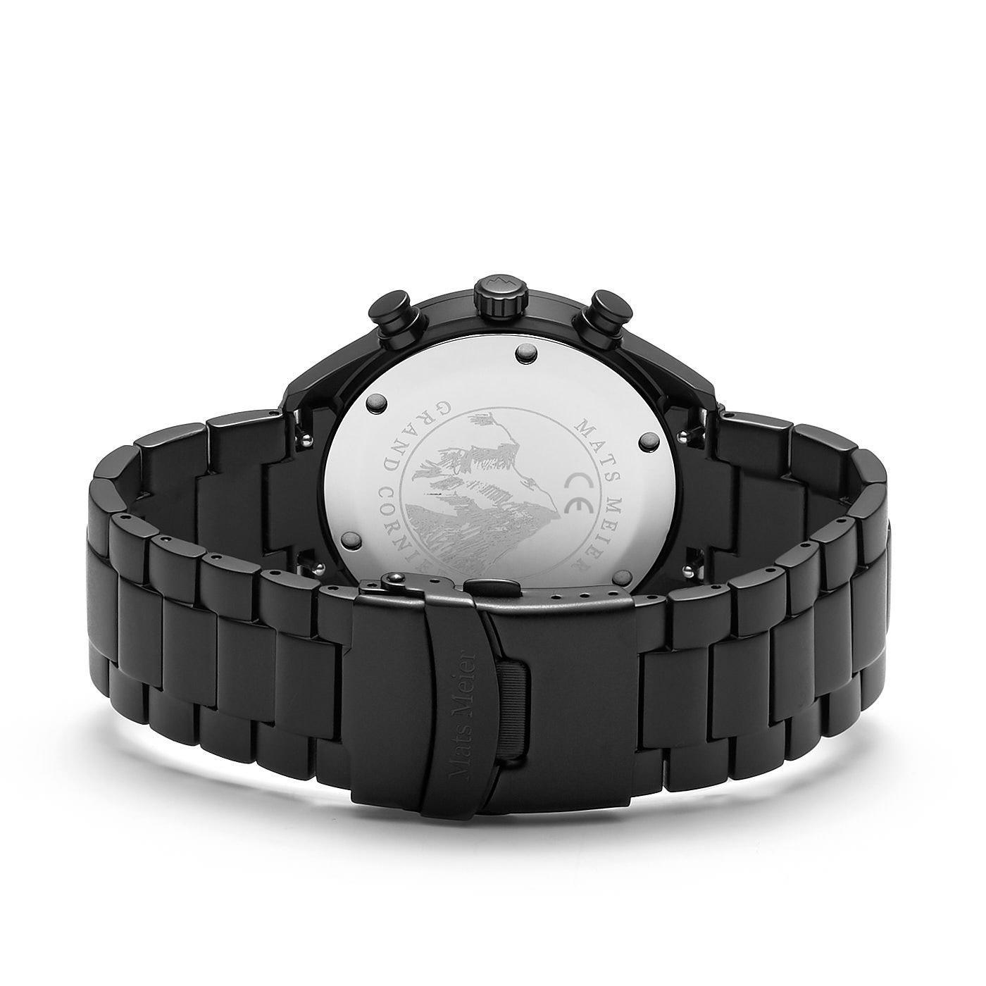 Mats Meier Grand Cornier chronograaf herenhorloge zwart