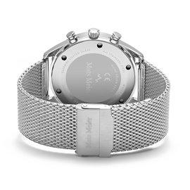 Mats Meier Grand Cornier chronograaf herenhorloge zilverkleurig en grijs