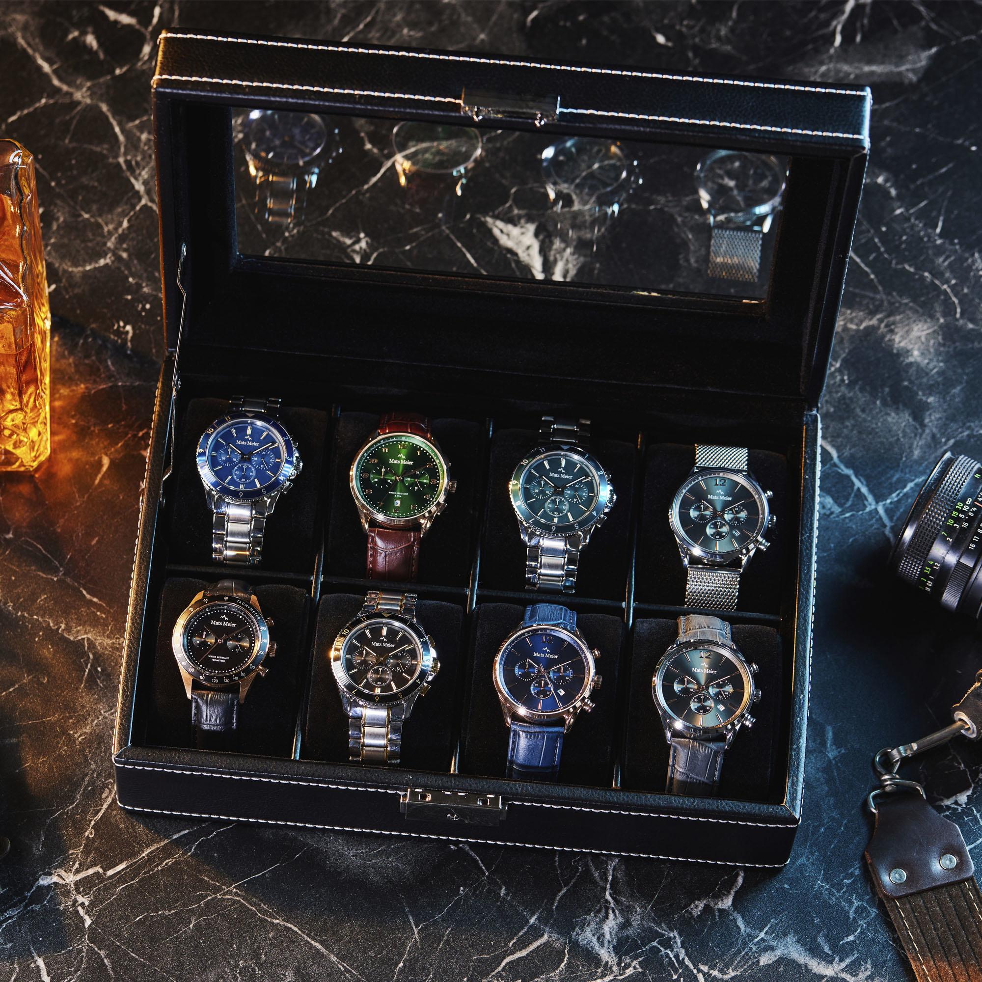 Mats Meier Mont Fort watchbox black - 8 watches