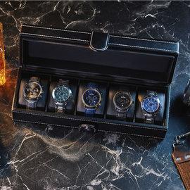 Mats Meier Mont Fort horlogebox zwart - 5 horloges