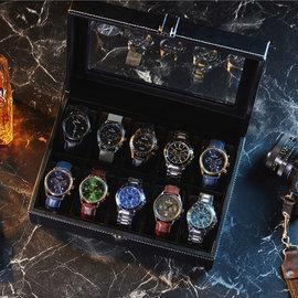 Mats Meier Mont Fort porta orologi nero - 10 orologi