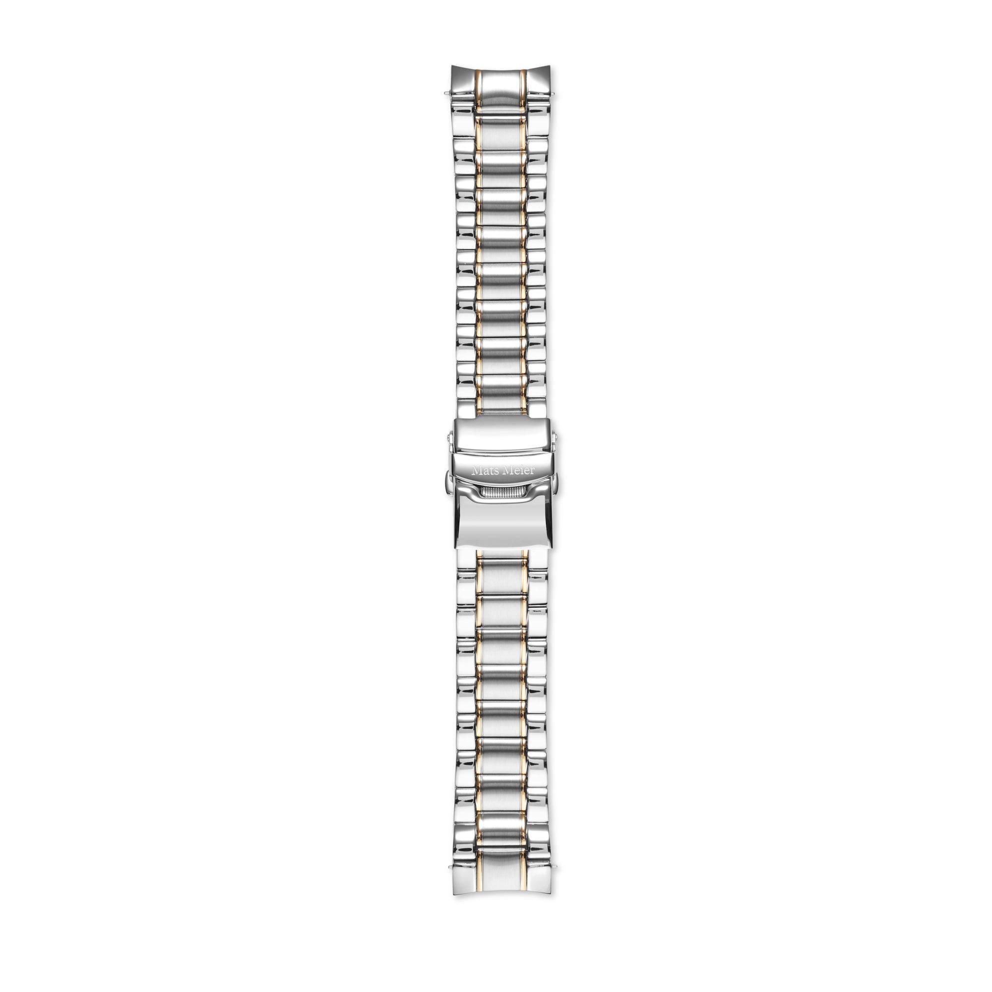 Mats Meier Stalen horlogeband 22mm zilverkleurig