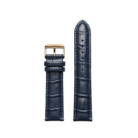 Mats Meier Bracelet montre cuir 22 mm croco blue