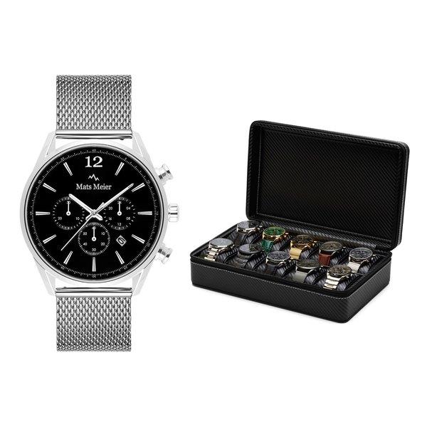 Mats Meier Grand Combin present-set kronografklocka och klocklåda
