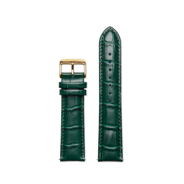 Mats Meier Grand Cornier Leren horlogeband 22 mm croco groen