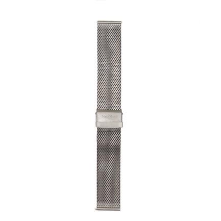 Mats Meier Mont Vélan cinturini per orologi in maglia d'acciaio 22 mm color argento