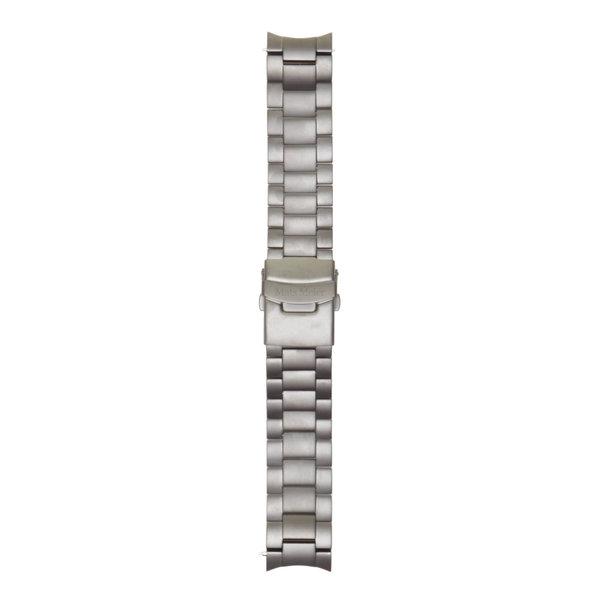 Mats Meier Grand Cornier bracelet de montre en acier 22 mm gris