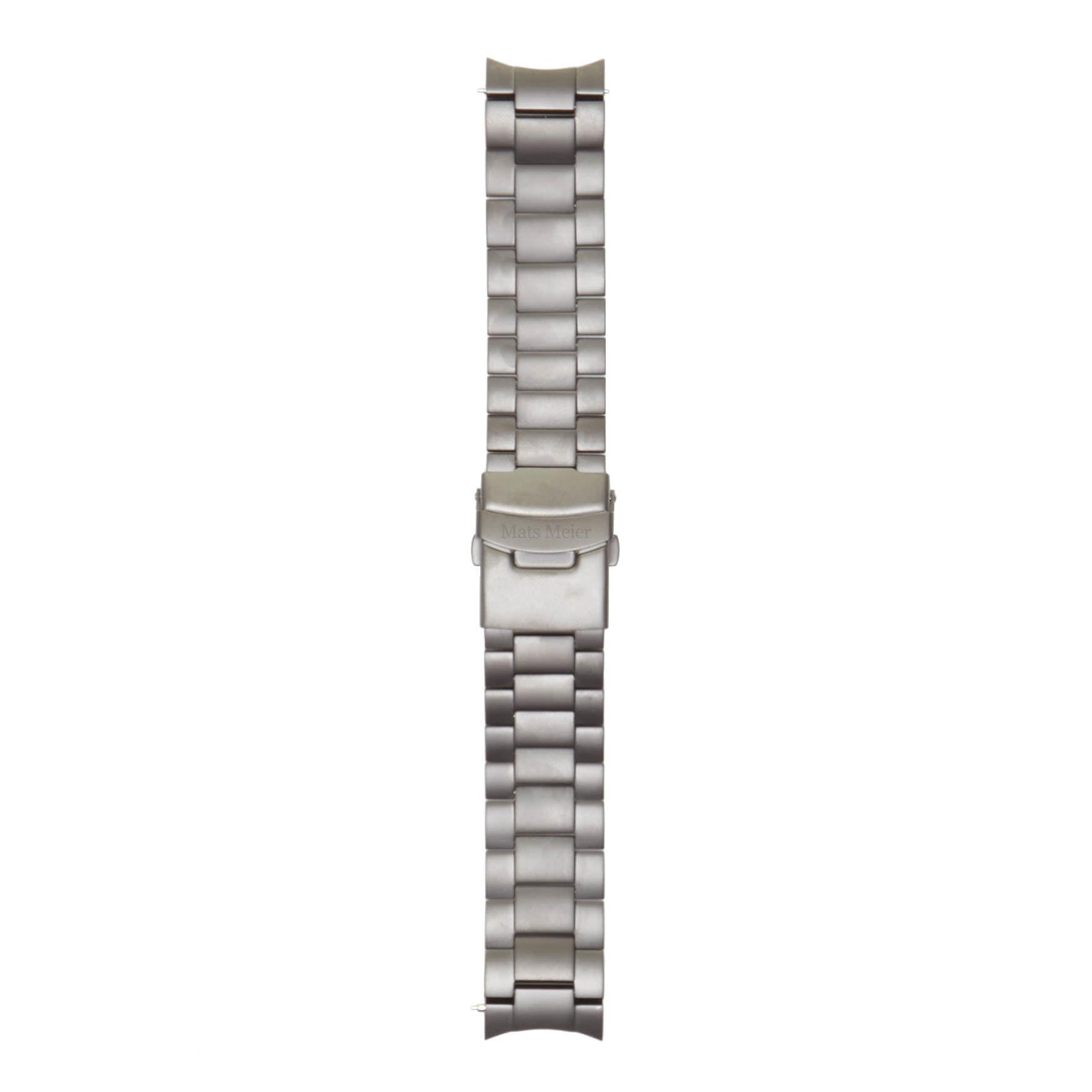 Mats Meier Grand Cornier cinturini per orologi in acciaio 22 mm nero