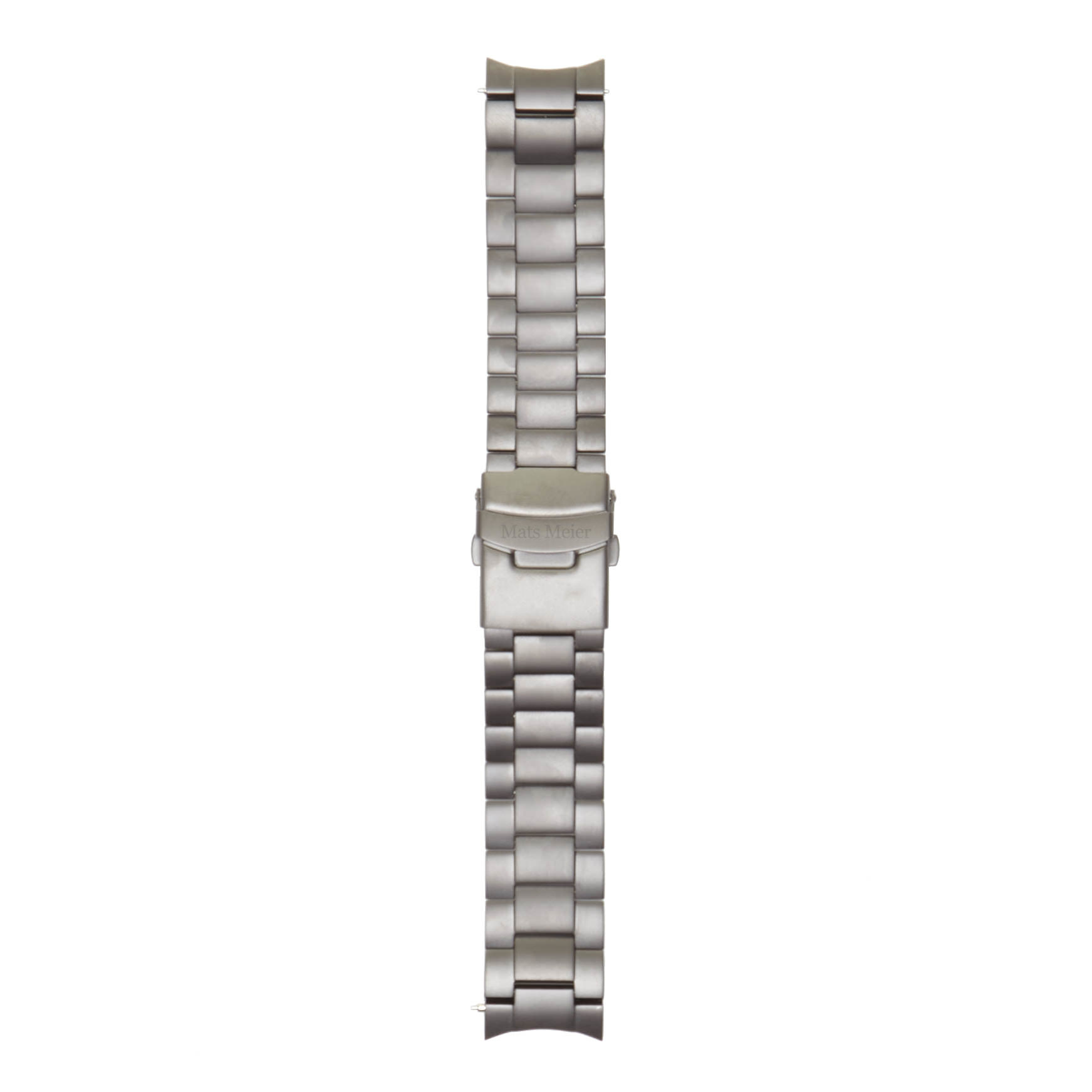 Mats Meier Grand Cornier stalen horlogeband 22 mm zwart