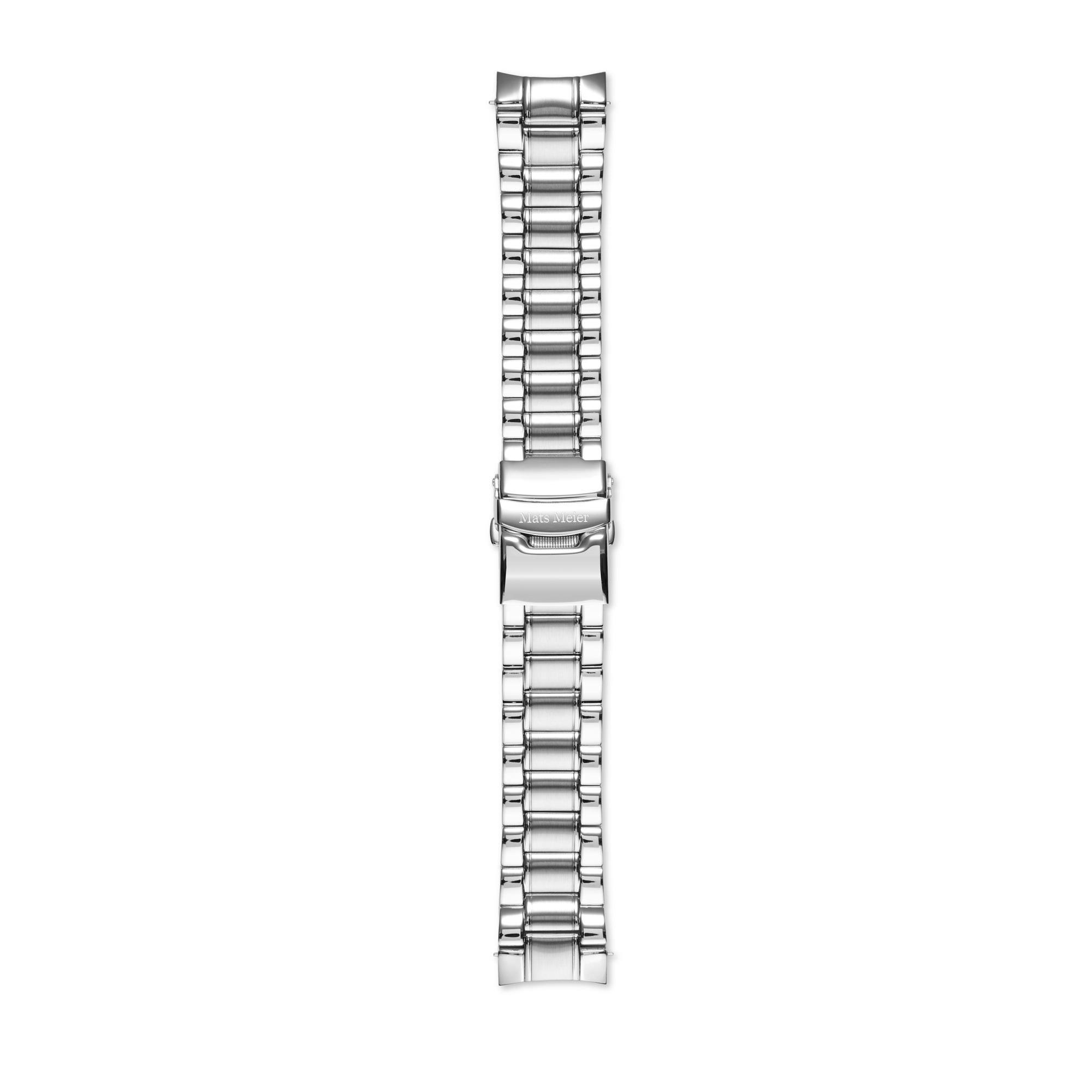 Mats Meier Ponte Dei Salti bracelet montre acier 22 mm couleur argent