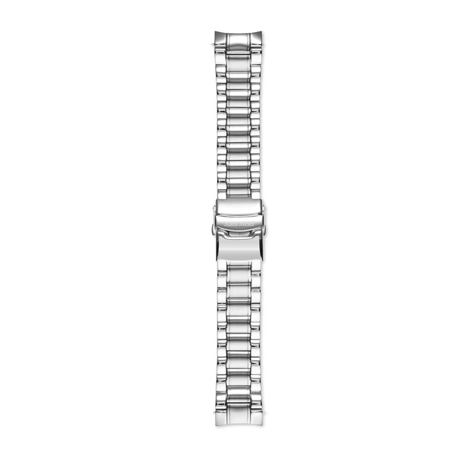Mats Meier Ponte Dei Salti stalen horlogeband 22 mm zilverkleurig