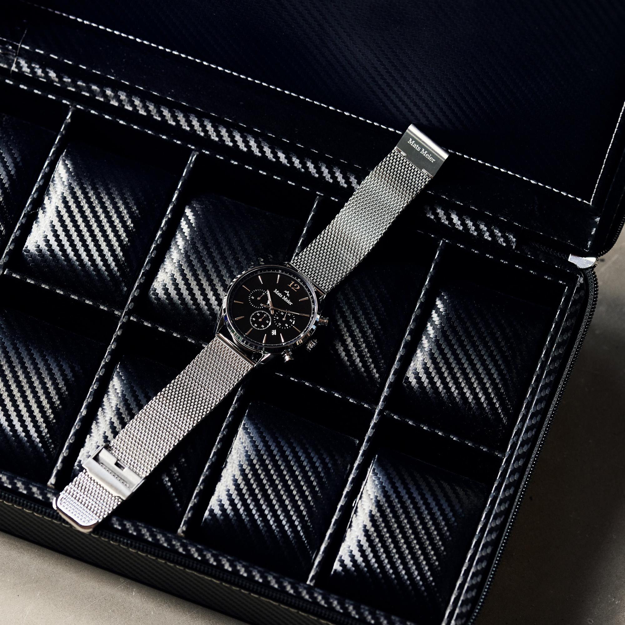 Mats Meier Grand Combin Chronograph und Uhrenbox Geschenkset