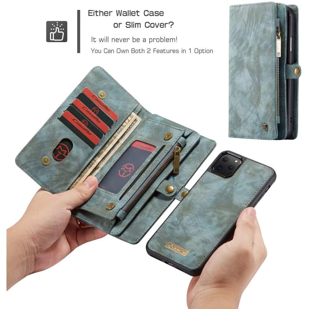 CaseMe Apple iPhone 11 Pro Vintage Portemonnee Hoesje Blauw