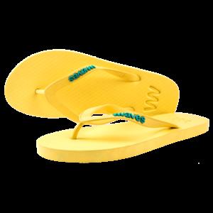 Teen slippers geel  duurzaam vegan rubber