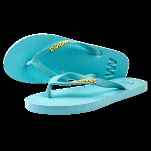 Teen slippers lichtblauw  duurzaam vegan rubber