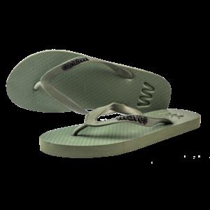 Teen slippers army  duurzaam vegan rubber