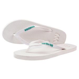 Teen slippers wit  duurzaam vegan rubber