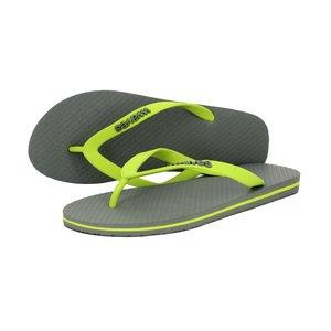 Teen slippers grijs - limoen  duurzaam vegan rubber