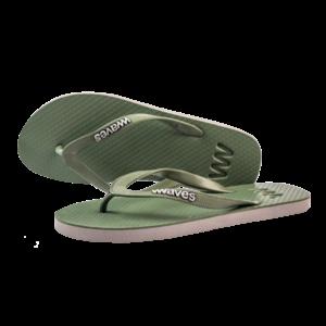 Teen slippers army - grijs khaki  duurzaam vegan rubber