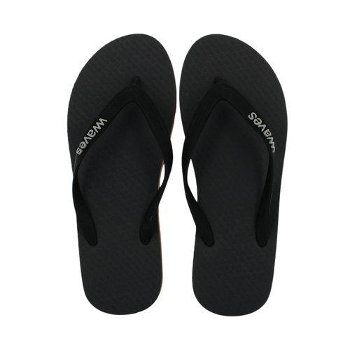 Teen slippers grijs met oranje streep