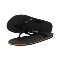 Teen slippers grijs met oranje streep   duurzaam vegan rubber