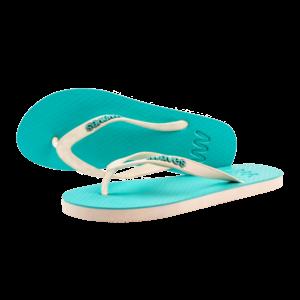 Teen slippers  lichtblauw - wit  duurzaam vegan rubber
