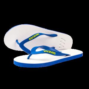 Teen slippers wit - donkerblauw  duurzaam vegan rubber