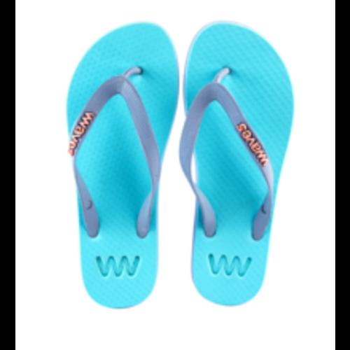 Teen slippers lichtblauw - lila