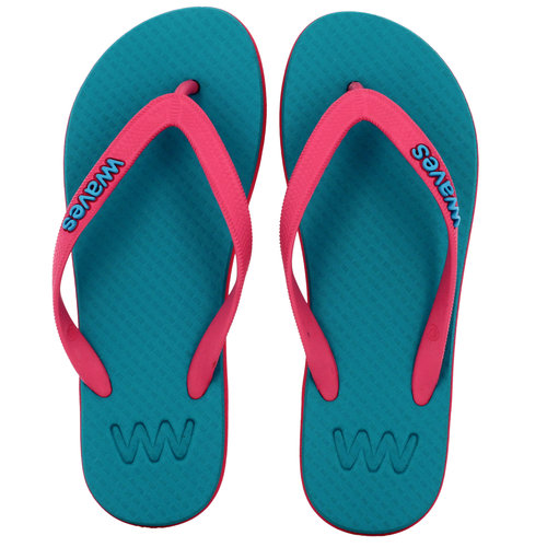 Teen slippers roze - turquoise