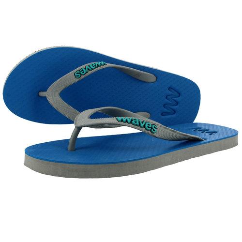 Teen slippers blauw - grijs  duurzaam vegan rubber