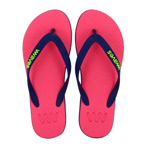 Teen slippers  roze - blauw