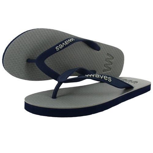 Teen slippers grijs  - donkerblauw