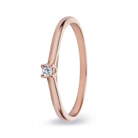 MissSpring Miss Spring Ring MSR530 rosegoud met briljant 0.08ct PW
