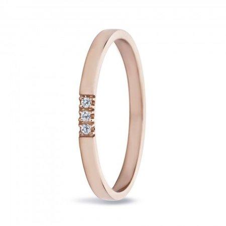 MissSpring Miss Spring Ring MSR540 roségoud met 3x diamant PW