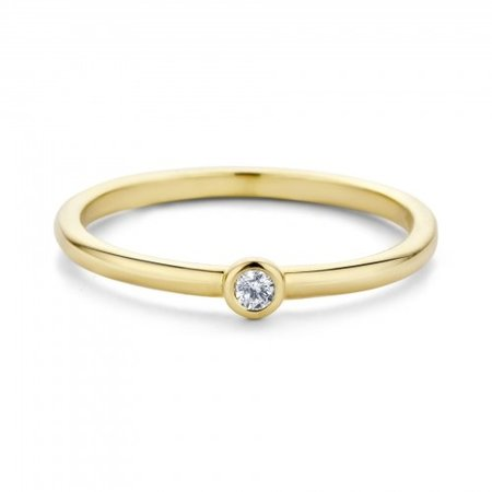 MissSpring Miss Spring Ring MSR543 geelgoud met briljant 0.04ct PW