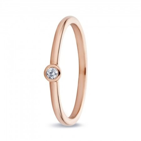 MissSpring Miss Spring Ring MSR543 rosegoud met briljant 0.04ct PW