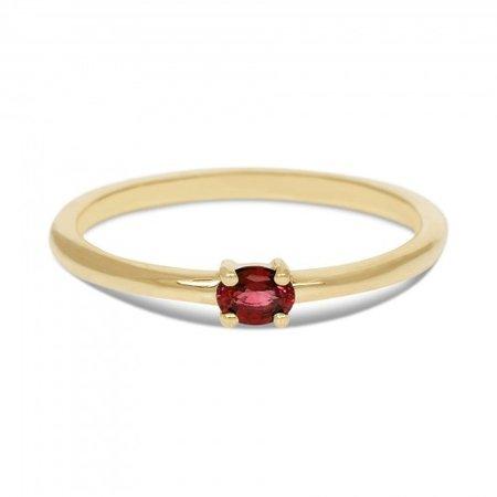 MissSpring Miss Spring Ring MSR570 geelgoud met ovale robijn