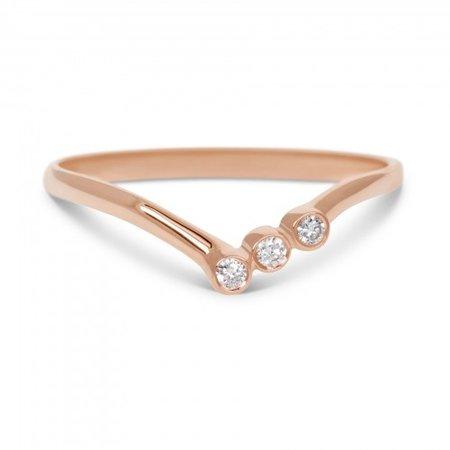 MissSpring Miss Spring Ring MSR580RG roségoud met 3x briljant 0.05ct PW