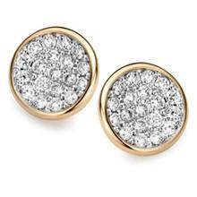 ROOS 1835 Moondrops Oorstekers 14k Geelgoud met 0.16ct diamant M002E16YW14