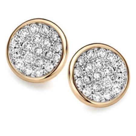 ROOS 1835 Roos Moondrops Oorstekers 14k Geelgoud met 0.16ct diamant M002E16YW14
