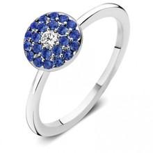 Moondrops Moondrops ring 14k Witgoud met saffier en diamant M001R42BSW14