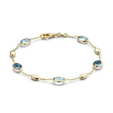 Mrs.Janssen Mrs.Janssen Armband 14k Geelgoud met londen blue topaas en blauw topaas 605526