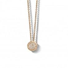 Mrs.Janssen MRS.Janssen Collier 14k roségoud met diamant 0.12ct 603617