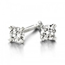 Mrs.Janssen MRS.Janssen Oorstekers 14k witgoud solitair met diamant 0.20ct W/Si 23420