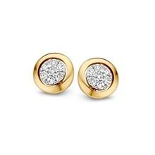 Mrs.Janssen Mrs.Janssen Oorstekers bicolor goud 14k briljant 0.14crt OP416035