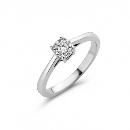 Mrs.Janssen MRS.Janssen Ring 14k witgoud met 0.15ct diamant G/SI 602121