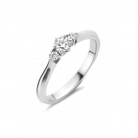 Mrs.Janssen MRS.Janssen Ring 14k Witgoud met diamant 0.20crt G/Si 605332