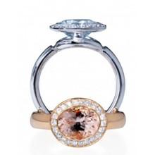 Mrs.Janssen Mrs.Janssen Ring Balance 14k Rosegoud met Morganiet en Diamant