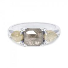 R&C NOUS Ring Oxford Pear 14k witgoud met 2.40ct natuurlijke diamant NOUS-32-WG